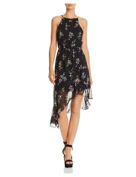 Floral Print Asymmetric Dress   100 Percents Exclusive  by Aqua