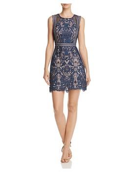 Fishnet And Lace Dress  100 Percents Exclusive by Aqua