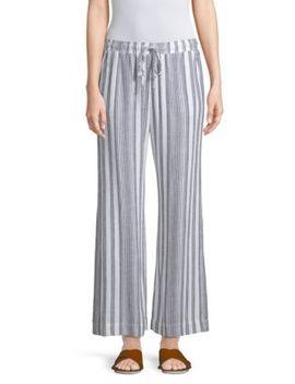 Side Slit Striped Pants by Bella Dahl