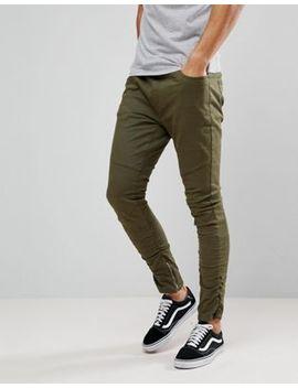 Brave Soul   Pantalon De Jogging En Coton Style Motard by Asos Brand