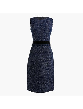 Petite Sparkle Tweed Dress by J.Crew