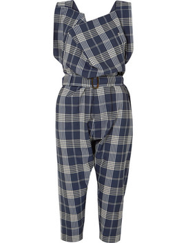 Oversized Draped Tartan Wool Overalls by Vivienne Westwood