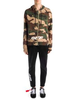 Camouflage Hooded Cotton Jacket by Off White