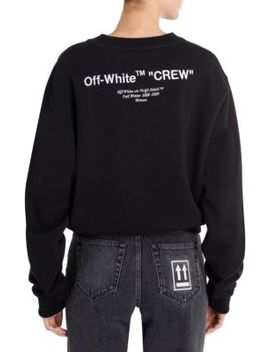 Quotes Cropped Crewneck Sweater by Off White