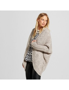 Women's 3/4 Sleeve Cocoon Cardigan Sweater   Cliché Gray by Cliche