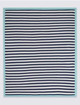 Pure Cotton Striped Shawl by Marks & Spencer