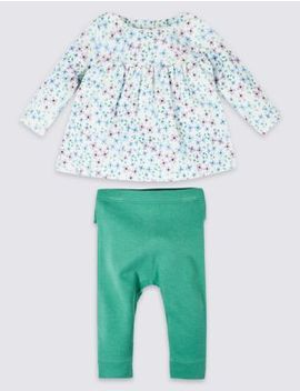 2 Piece Frill Top &Amp; Leggings Outfit by Marks & Spencer