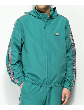 Obey Eyes Teal Track Jacket by Obey
