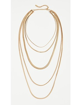 The Cascading Snake Chain Necklace by Luv Aj