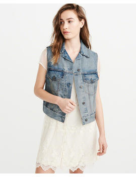Denim Vest by Abercrombie & Fitch