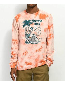Volcom Tomb Orange Tie Dye Long Sleeve T Shirt by Volcom