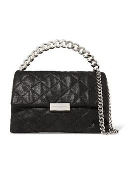 Quilted Faux Brushed Leather Shoulder Bag by Stella Mc Cartney