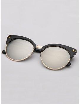 Semi Rimless Sunglasses by Romwe