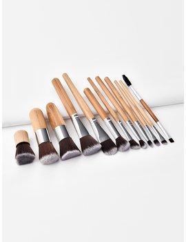 Wood Handle Makeup Brush 12pcs by Romwe