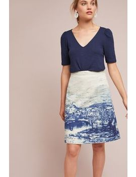 Vista Denim Skirt by Anthropologie