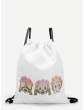 Emoji Monkey Icons Backpacks Bag by Romwe