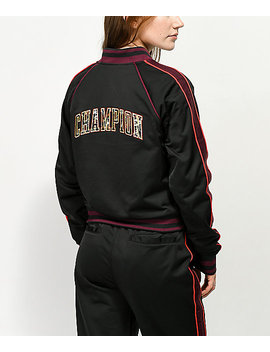 Champion Black & Floral Track Jacket by Champion