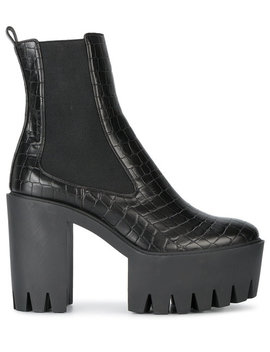 Stella Mc Cartney Black Monster 120 Platform Ankle Bootshome Women Shoes Boots by Stella Mc Cartney