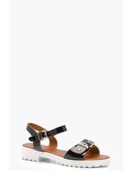 Buckle Cleated Sandals by Boohoo