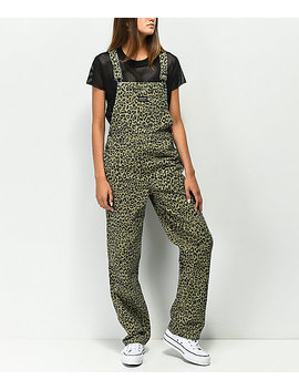 Obey Casbah Khaki Leopard Overalls by Obey