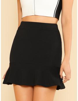 Ruffle Hem Skirt by Romwe