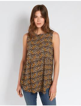Evie Tiger Vine Longline Top by Fat Face
