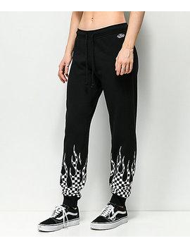 Vans Checkerboard Flame Black Sweatpants by Vans