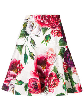Floral Flared Mini Skirt by Dolce & Gabbana