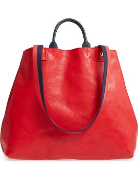 Le Big Sac Rustic Leather Tote by Clare V.