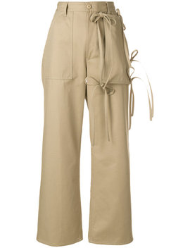 Mm6 Maison Margielatied Cargo Trousershome Women Clothing Straight Trousers by Mm6 Maison Margiela