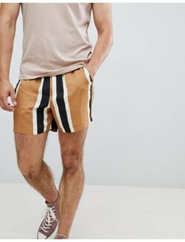 Asos Design Slim Shorts In Block Stripe by Asos Design