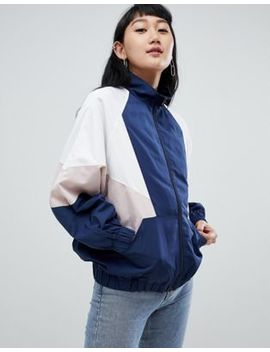 Pull&Bear Color Block Wind Jacket In Multi by Pull&Bear