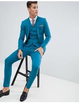 Asos Design Super Skinny Suit Jacket In Teal by Asos Design