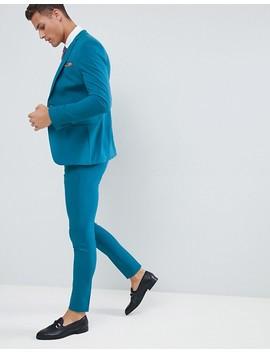 Asos Design Super Skinny Suit Trousers In Teal by Asos Design