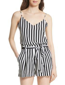 Jane Stripe Silk Camisole by L'agence