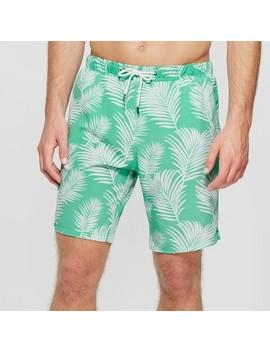 Men's Tropic Haze Swim Trunks   No Retreat Green/White by No Retreat