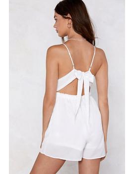 Turn And Lace The Strange Romper by Nasty Gal