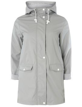 Grey Button Front Raincoat by Dorothy Perkins