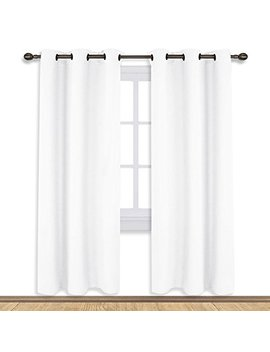 Nicetown White Curtain Set, Modern Design Solid Grommet Draperies/Drapes For Living Room, Window Dressing For Patio Door (2 Panels, 42 By 72) by Nicetown