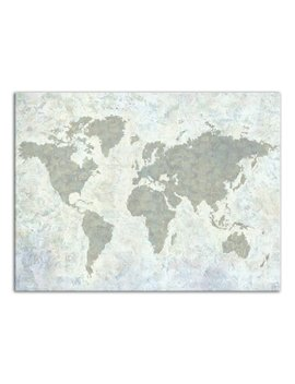 Williston Forge 'neutral World Map' Acrylic Painting Print On Canvas by Williston Forge