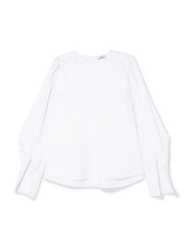 Cotton Poplin Blouse by Clu