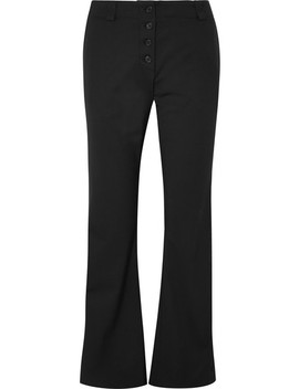 Cropped Stretch Wool Twill Flared Pants by Proenza Schouler