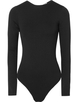 Icon String Tulle Paneled Bodysuit by Wolford