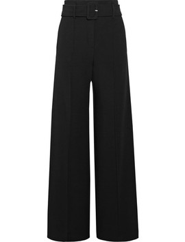 Belted Crepe Wide Leg Pants by Theory