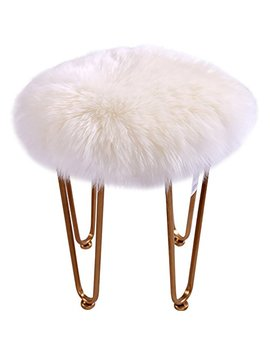 Easyhousehome Luxury Room Soft Faux Sheepskin Chair Cover Seat Cushion Pad Plush Bedroom Carpet Mat (Round 24in24in, White) by Easyhousehome