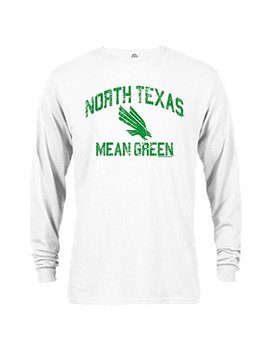 University Of North Texas Mean Green Retro Logo Long Sleeve T Shirt by Southland Graphics Apparel