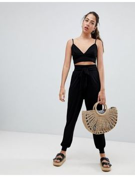 Asos Design Balloon Trousers With Tie Front by Asos Design