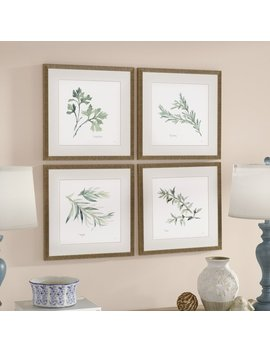 Lark Manor 'herbs' 4 Piece Framed Graphic Art Print Set & Reviews by Lark Manor