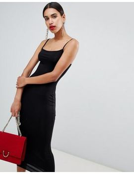 Boohoo Cami Square Neck Midi Dress by Boohoo