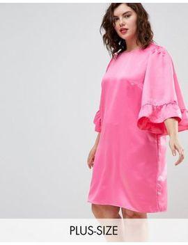 Junarose Frill Sleeve Shift Dress by Junarose